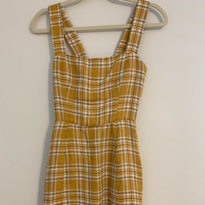 Reformation plaid mustard clueless dress